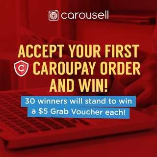 Accept your first CarouPay Order and Win!