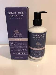 Crabtree and Evelyn Body lotion (Lavender and Espresso)