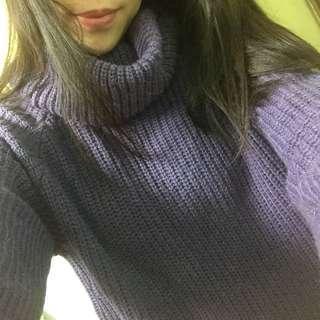 🚚 浪漫紫·高領針織毛衣