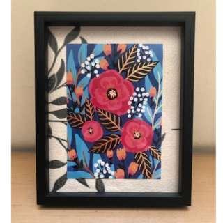 Frame foto dekoratif bunga