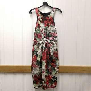 🚚 Designers Floral Sleeveless Dress Cut-Label Office OL Causual Formal Wear