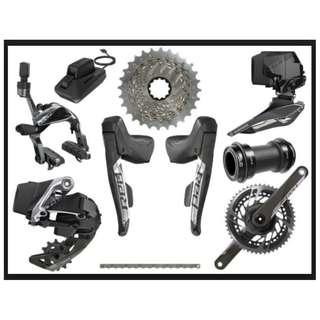 🚚 SRAM eTap AXS 2x12sp Road Rim Brake Full Groupset with/without Powermeter crank