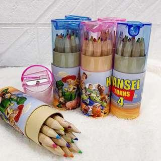✔️customize colour pencils for goodies box / bag  - Toy story
