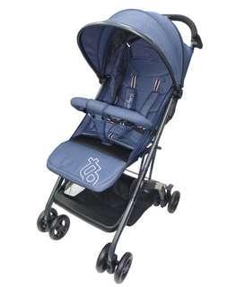 Preowned Tobby Lightweight blue stroller pram cabin
