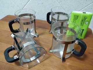 Coffee/Tea Glass 200ml Cup *4