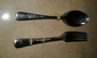 Sendok garpu makan