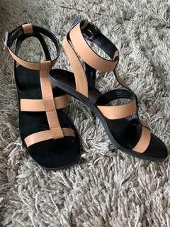 Nude Charles and Keith heels