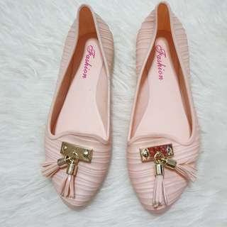 🚚 Nude Flats jelly shoe