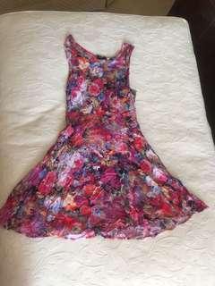 SUBTITLED FLORAL DRESS