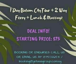 1 DAY MASSAGE CITY TOUR @ BATAM