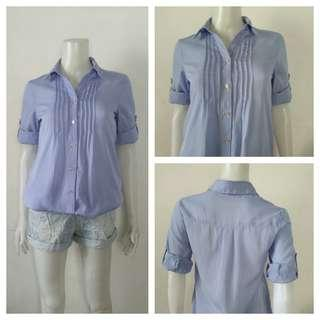 Honeys Glacier Blue Office Polo