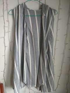 stripe hoodie vest