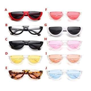 Half frame sunglasses / watermelon sunglasses / half watermelon eyeglasses
