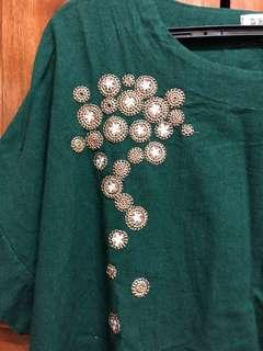 Linen Top with Embroidery Detail