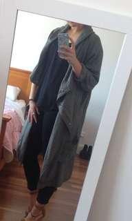 Khaki Anorak With Hood