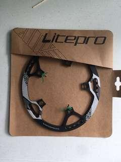 Litepro Oval 50+-3T Chian Ring with Guard 130BCD