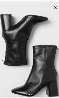 Patent Genuine Leather Boots (size 8.5-9)
