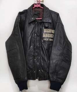 Yellow Corn Leather Jacket M