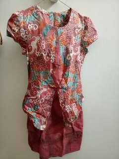 Dress batik cantij