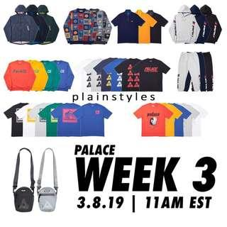 [Preorder] Palace SS19 Spring Week 3 Items