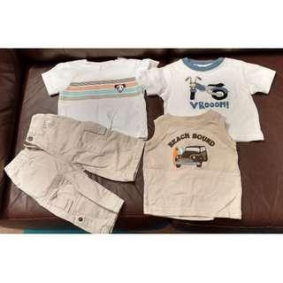 Gymboree NEW clothes, 14 pieces for baby Boy Boys label 3 - 6 mths + free set of used clothes