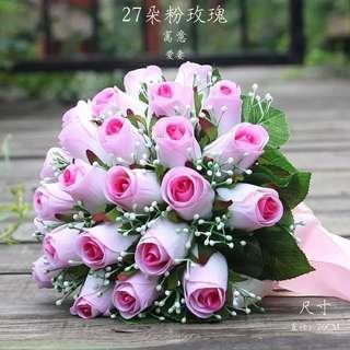 Wedding Hand Flower Roses Bouquet