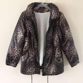 Animal Print Quilted Parka