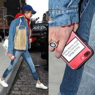 /PO/ GIGI HADID Clear Edgy Phone Case