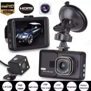 🚚 New Dual Channel Front & Rear (Reverse) Car Camera - Complete Set, Ready Stock