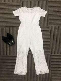 White Lace Jumpsuits