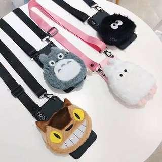 🚚 /PO/ Totoro Plush Phone Case with Lanyard