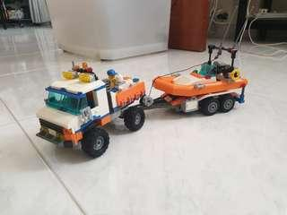 🚚 Lego Coast Guard Truck with speed boat