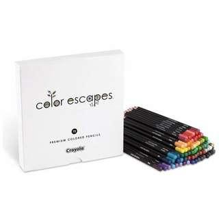 🚚 Crayola Color Escapes Colored Pencils, 72 Count, Adult Coloring, Gift