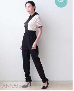 Anna-House Jumpsuit in Black and White M size