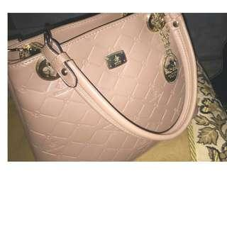 British Polo Handbag Nude Pink