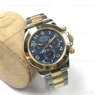 二手 #Rolex #116523 金鋼 #Daytona 藍數面