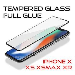 iPhone XR X XS Max Full Glue Tempered Glass Screen Protector