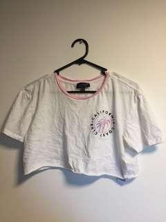 Top shop crop shirt