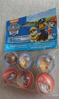Paw Patrol Bounce Balls - Great for Birthday Party Favours