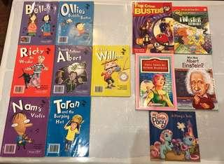 🚚 Nelson ITP's Bella/Ricky/Nam/Ollie/Albert/Taran/William, Top Crime Busters, Fairy Tales by Grimm Brothers, The Magic School Bus Chapter Book, Who was Albert Einstein?, My Little Pony: A Pony's Tale
