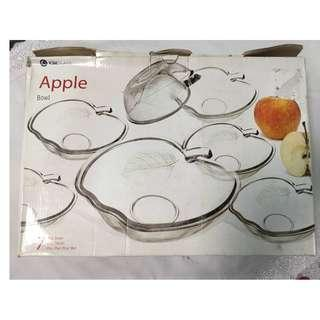 NEW Apple Shape 6 pcs Glass Bowl for only RM10!
