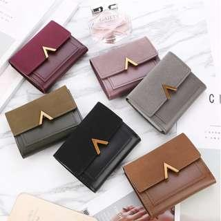 Women Matte Leather Korean Style Wallet Female Coin Credit Card Holder