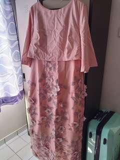 zalia placement floral double dress
