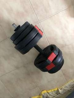 Dumbbells and AIBI Gym Bench
