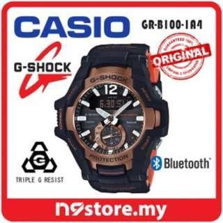 CASIO G-SHOCK GRAVITYMASTER GR-B100-1A4 PHONE FINDER BLUETOOTH SMART WATCH
