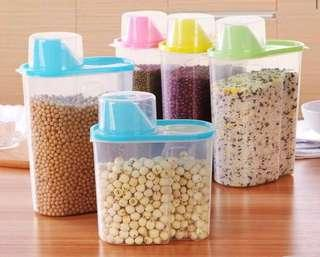 🚚 Plastic Storage Food , Rice , Cereal , Beans , Nuts Container Organiser Dispenser