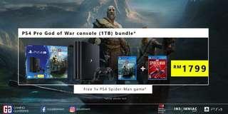 PS4 Pro God of War console (1TB) bundle