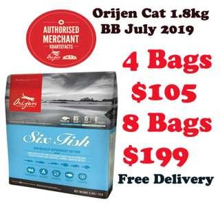 Authentic Orijen Cat Dry Food 1.8kg Special Clearance Offer