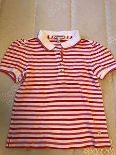 Juicy Couture Girls Striped Polo Tee 6Y Seed Ralph Burberry Petit Bateau Zara Gap H&M Lollipop