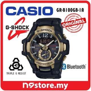 CASIO G-SHOCK GRAVITYMASTER GR-B100GB-1A PHONE FINDER BLUETOOTH SMART WATCH
